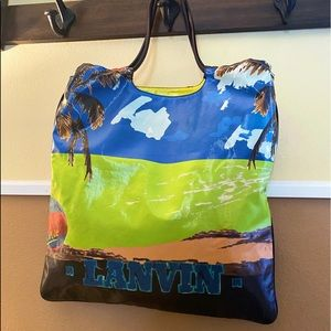 Auth. Lanvin Limited Ed. 09' Gourmet GM Tote Bag